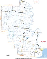 Wisconsin Counties Map by Marinette County Wisconsin Map