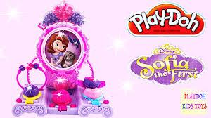 Vanity Playset Play Doh Sofia The First Amulet U0026 Jewel Vanity Playset Disney
