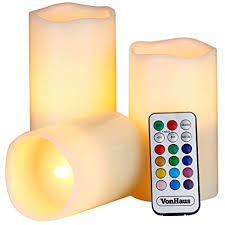 3 candle electric light amazon com vonhaus electric candles 3 x flameless battery