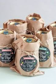 baby shower giveaway ideas chagne baby shower tag pop it when she pops gender neutral
