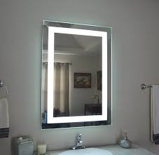 led lit bathroom mirrors lit bathroom mirror house decorations
