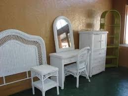 Wicker Vanity Set Wicker Bedroom Set Stylish Vintage Furniture Inside 6 Prepare