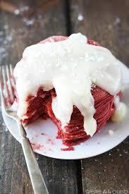 red velvet cheesecake pancakes creme de la crumb