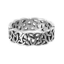 celtic ring handcast 925 sterling silver celtic trinitytriquetra knot