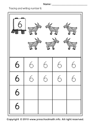 writing number worksheets for kindergarten