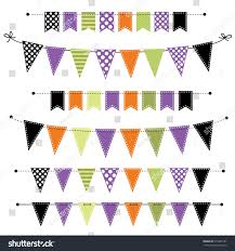halloween bats clear background halloween banner bunting flags on transparent stock vector