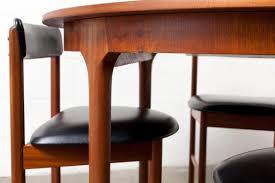 oval teak dining table mid century round or oval danish teak dining table amsterdam modern