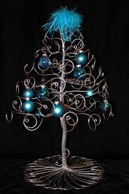 tree ornament display holder silver wire