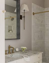 newport brass for a transitional bathroom with a brass kitchen