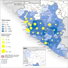 Liberia Africa Map by Ebola Situation Report 31 December 2014 Ebola