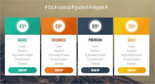40 pricing table designs free u0026 premium templates