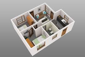 2 small house plans 50 3d floor plans lay out designs for 2 bedroom house or apartment