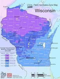 Growing Zone Map Wisconsin Plant Hardiness Zone Map U2022 Mapsof Net