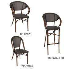 Rattan Bistro Chairs French Style Bamboo Looking Aluminum Rattan Bistro Chair Buy