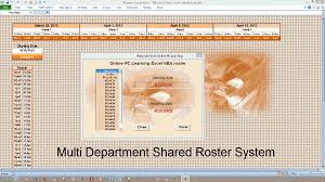 excel vba roster create a staff roster roster flow plus