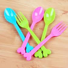 ustensile de cuisine en plastique 8 pcs multifonction couleur de sucrerie en plastique fourchette