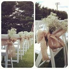 Vintage Wedding Chair Sashes Burlap Chair Sash Tie Cute For Ceremony Aisle Dream Wedding
