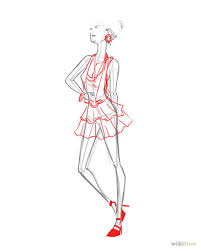 how to draw fashion figures 6 steps with pictures wikihow