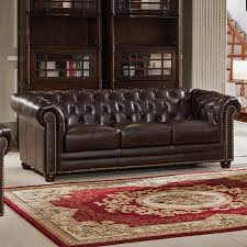 Leather Chesterfield Sofas Chesterfield Sofa Branagh 3 Seater Brown Chesterfield Sofa Made