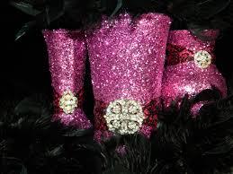 Black And Silver Centerpieces by Wedding Centerpiece Wedding Decorations Pink Black Fuschia