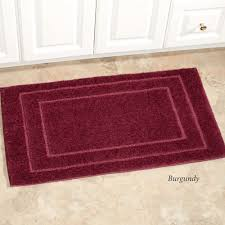 Burgundy Bathroom Rugs Soho Solid Color Bath Rugs Or Contour Mats