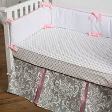 amazon com new arrivals stella gray 4 piece crib bedding set