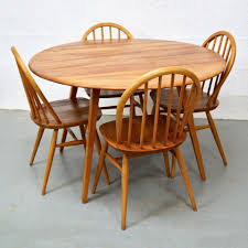 Ercol Dining Table And Chairs Mid Century Vintage Elm Dining Table Chairs By Ercol Pedlars