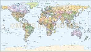 Guam World Map Digital Vector World Map Equirectangular Projection World Vector