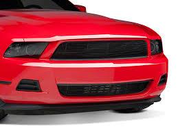 Black Mustang Grille Emblem Modern Billet Mustang Black Pony Delete Billet Grille 2010 V6