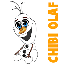 draw chibi olaf baby olaf frozen easy steps