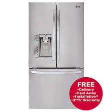 lg bottom freezer french door refrigerator lg 29 cu ft 3 door french door refrigerator with dual ice