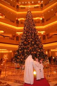 emirates palace hotel unveils most expensive tree