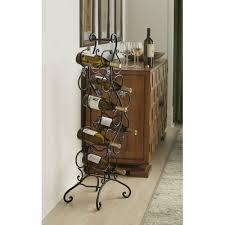 andover mills eliza 24 bottle floor wine rack u0026 reviews wayfair