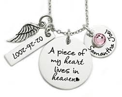 Personalized Memorial Necklace Piece Of My Heart Etsy