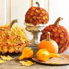 flower pumpkin thanksgiving table centerpiece decorating idea ny