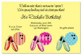 birthday invites bowling birthday party invitations free