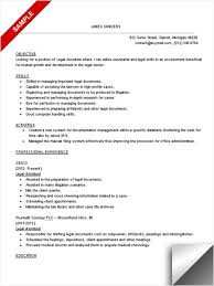 Paralegal Resume Sample by Glamorous Paralegal Resume Objective 91 For Resume Sample With