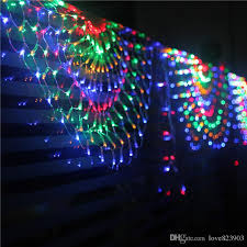 cheap creative peacock net light living room bedroom curtain led