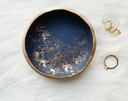 metal dish ring holder images Blue ring dish etsy jpg