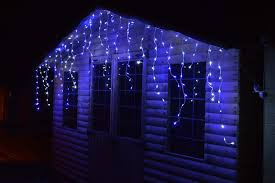 blue white christmas lights premier outdoor led icicle christmas lights blue white or multi