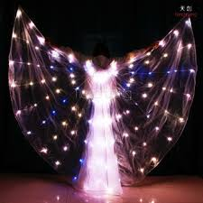 light up fairy wings tc 0160 belly dance isis dance costumes light up fairy wings golden