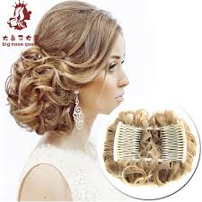 chignon tool women new high quality two plastic combs elastic net curly chignon