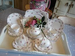 roses tea set china glass tea sets