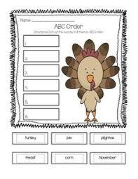 abc order thanksgiving printable happy thanksgiving