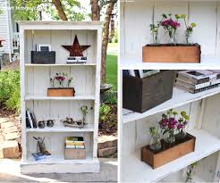 rustic farmhouse bookcase in antique white general finishes