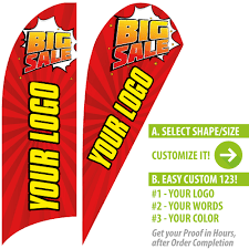Custom Swooper Flags Big Sale Outdoor Advertising Custom Feather Flag In Red