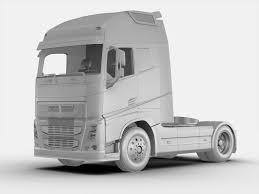 new volvo fh truck volvo fh 16 2012 3d cgtrader