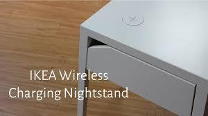 hands on with ikea u0027s new wireless charging nightstand youtube