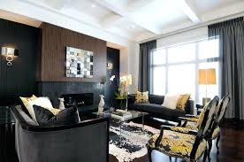 in the livingroom knockout black accent wall in the living room home design lover