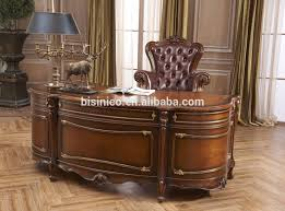 office table and chair set baroque style luxury executive office furniture antique hand carved